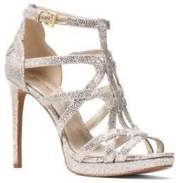 MICHAEL Michael Kors Sandra Shimmer Mesh Platform Sandals