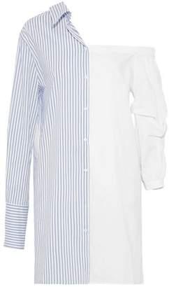 Walter W118 By Baker Ally One-shoulder Paneled Cotton-blend Poplin Shirt