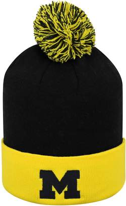 Top of the World Adult Michigan Wolverines Pom Knit Hat