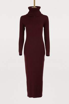 Courreges Removable collar midi dress