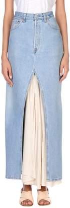 Cavallini ERIKA Denim skirts - Item 42627166OD