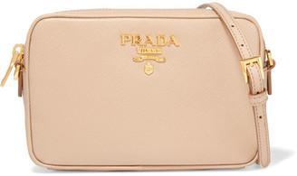 Prada - Textured-leather Camera Bag - Beige $850 thestylecure.com