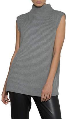 Eleventy Stand-Collar Sleeveless Pullover