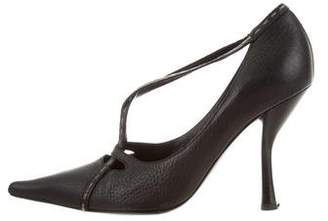 Fendi Leather Pointed-Toe Pumps