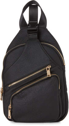 Urban Expressions Black Clark Vegan Sling Backpack