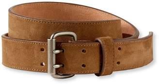 Men's Double-Prong Suede Belt