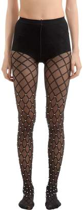 Wolford Pearl Beaded Net Stockings