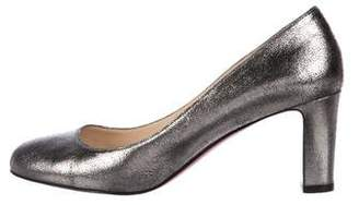 Christian Louboutin Foiled Leather Pumps