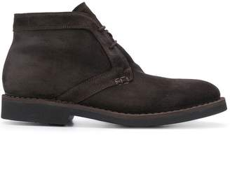 Canali lace up leather boots