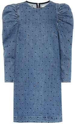 Ulla Johnson Lyna embroidered denim minidress