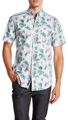 Visive Short Sleeve Flamingo Print Modern Fit Shirt