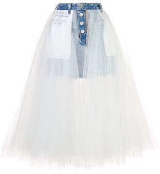 Unravel Project denim tulle skirt