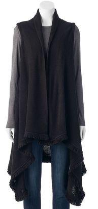 Apt. 9® Flyaway Fringed Long Vest $58 thestylecure.com