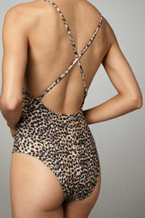 Mara Hoffman Embroidered Twist One Piece in Cheetah