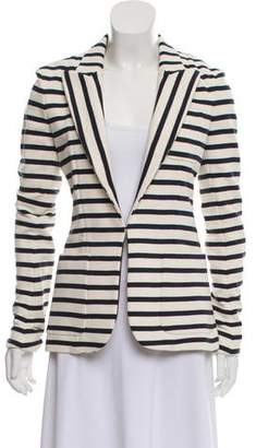 Faith Connexion Striped Peak-Lapel Blazer w/ Tags