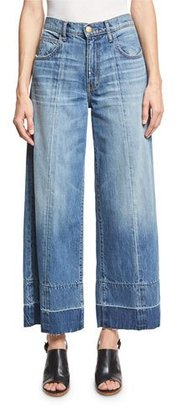 Current/Elliott The Wide Leg Crop Jeans w/Released Hem, Old Soul $258 thestylecure.com