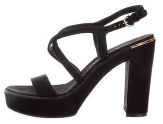 Salvatore Ferragamo Suede Platform Sandals