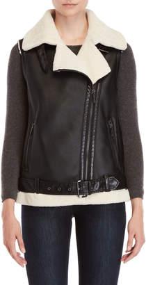 MICHAEL Michael Kors Sherpa Faux Leather Vest
