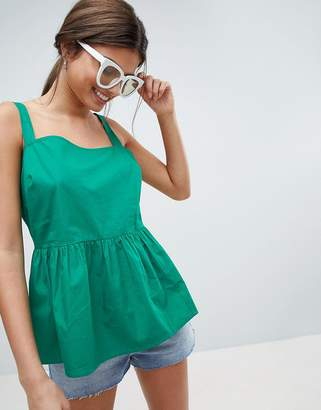 Asos DESIGN fuller bust smock cami in cotton