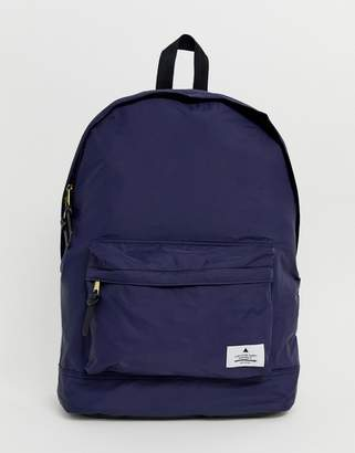 Asos Backpack In Navy With Badge Detail