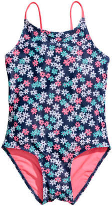 H&M Patterned Swimsuit - Blue