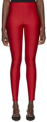 Gucci Red Logo Band Leggings