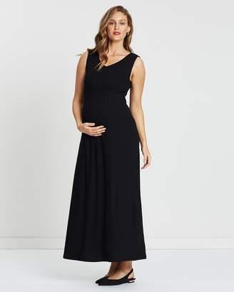 Angel Maternity Maternity Babydoll Maxi Dress