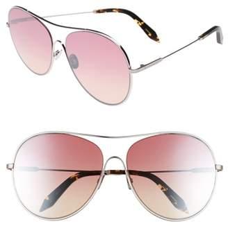 Victoria Beckham Loop 63mm Oversize Round Sunglasses