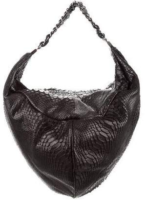 Chanel Rock & Chain Python Hobo