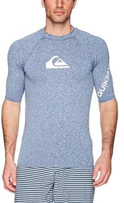 Quiksilver Young Men's Sportswear Men's Time Short Sleeve Rashguard Swim Shirt UPF 50+