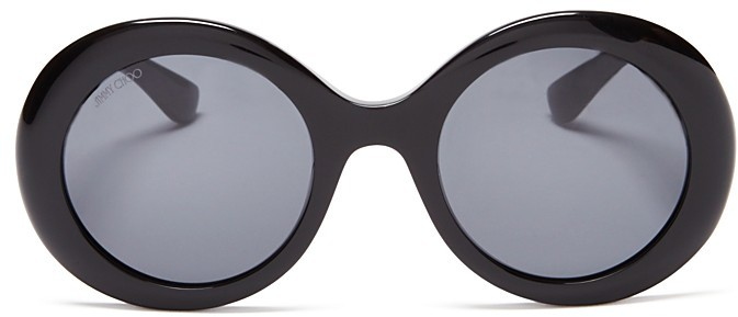 Jimmy Choo Jimmy Choo Wendy Round Embellished Sunglasses, 48mm