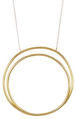 Argentovivo 18K Gold Plated Two-Tone Sterling Silver All Around the World Pendant Necklace