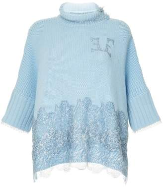 Ermanno Scervino roll neck knitted top