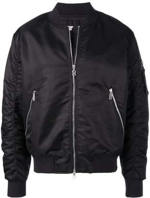 Dirk Bikkembergs zipped sleeve bomber jacket