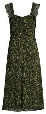 MICHAEL Michael Kors Women's Mod Garden Print A-Line Dress - Black Ivy - Size XS