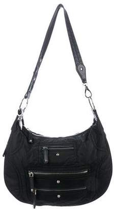 Tod's Patent Leather-Trimmed Pashmy Shoulder Bag