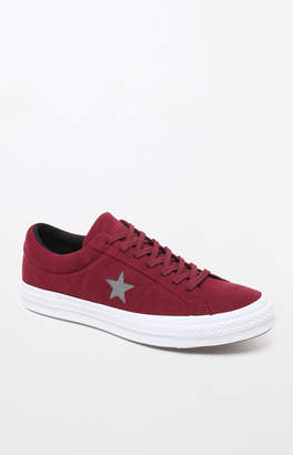One Star Suede Low Top Burgundy Shoes