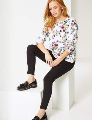 Marks and Spencer PETITE Floral Print Long Sleeve Top