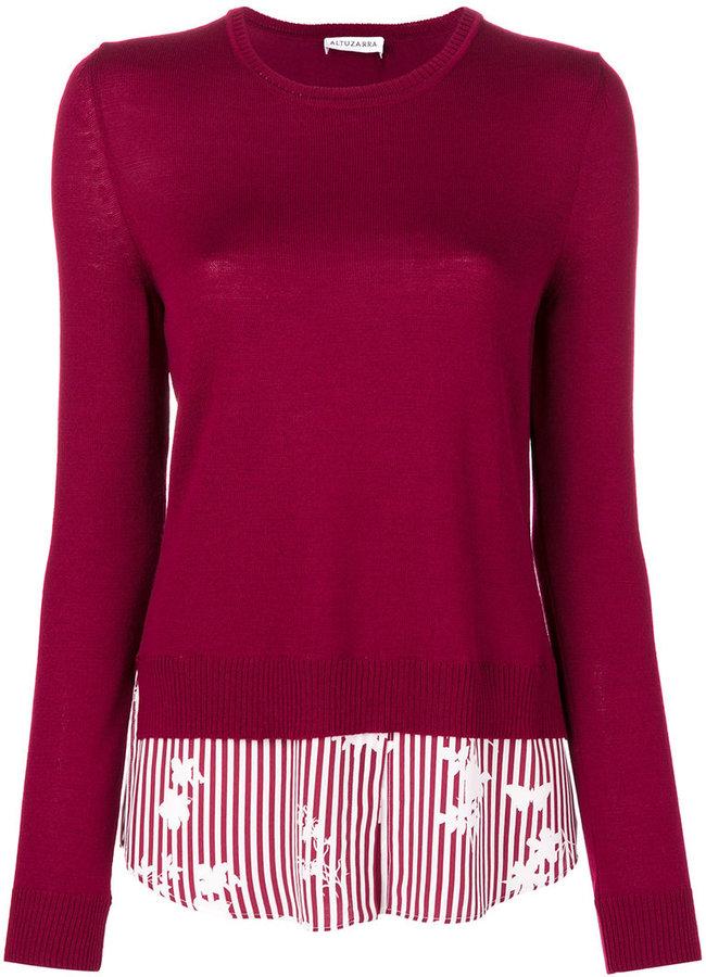 Altuzarra striped knitted top