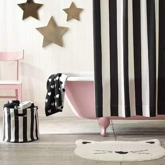 Pottery Barn Teen The Emily &amp Meritt Awning Stripe Shower Curtain Black/White