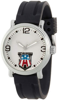 Marvel Captain America Mens Black Strap Watch-Wma000269