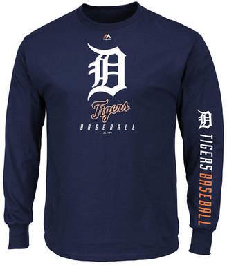 Majestic Men's Detroit Tigers Game Supreme Long Sleeve T-Shirt