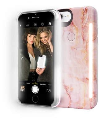 LuMee Limited Edition iPhone 8 Plus Photo-Lighting Duo Case, Pink Quartz