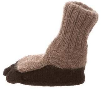 Oeuf Kids' Alpaca Knit Booties