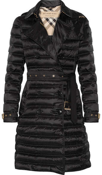 Burberry - Quilted Shell Down Coat - Black
