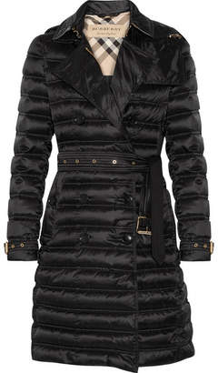 Burberry - Quilted Shell Down Coat - Black $1,300 thestylecure.com
