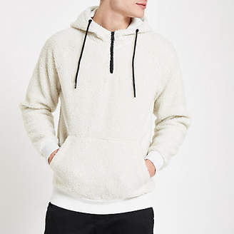 River Island Only and Sons white hooded fleece