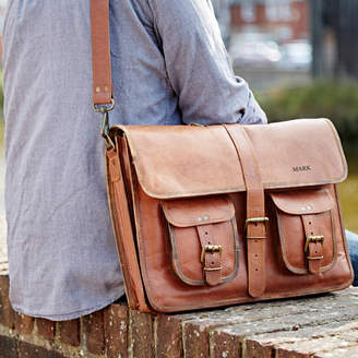 Paper High Personalised One Strap Leather Satchel