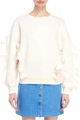 Stella McCartney Ruffle Trim Pullover Sweater