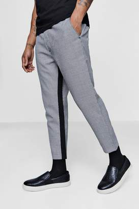 boohoo Dogtooth Jogger With Panel Detailling